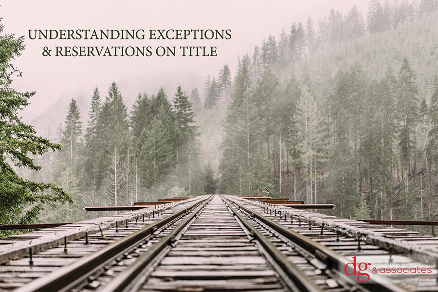 Understanding Exceptions and Reservations on Title
